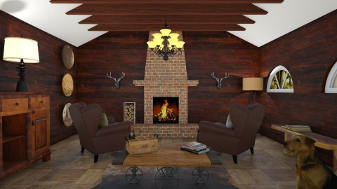 The Den_Western - Living room - by kelseyleigh3