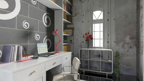 Modern Study - Office - by KarolinaZ