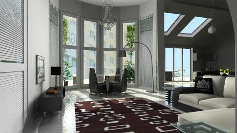 city apartmentv1 - Modern - Kitchen - by auntiehelen