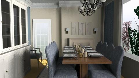 Blue Cream - Classic - Dining room - by Anita Selgrad