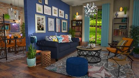 Eclectic lively living - Living room - by Moonpearl