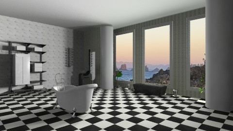 Master Bath - Retro - Bathroom - by ebonee