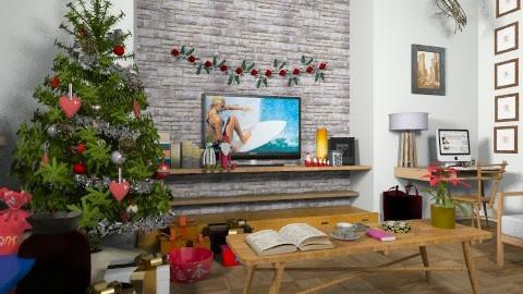 Boho Christmas - Vintage - Living room - by camilla_saurus