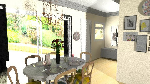 dining room final design - Dining room - by bellabravis