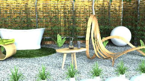 Stone Water Wood - Garden - by Sputnik