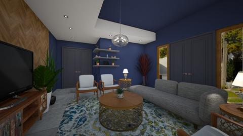 WARM AND COMFY - Masculine - Living room - by MissREZA