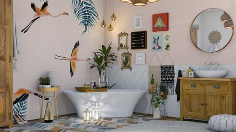 Bohemian Bathroom - Eclectic - Bathroom - by Roquette