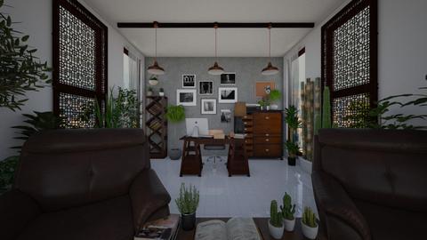 Urban Jungle Office - Minimal - Office - by kristenaK