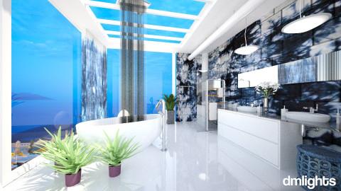 shibori bath - Modern - Bathroom - by DMLights-user-982918