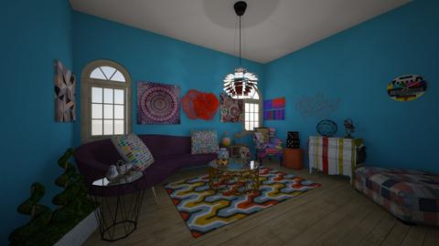 Strange Curves and Colour - Vintage - Living room - by Anna Neeb
