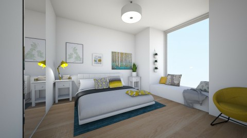 Bed on the Floor - Modern - Bedroom - by ninazara1234