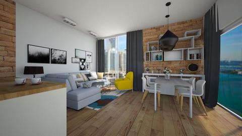 Loft dinning room - Modern - Dining room - by Zosia Zakrzowska