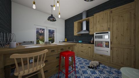 Kitchen Industrial - Retro - Kitchen - by Marion_