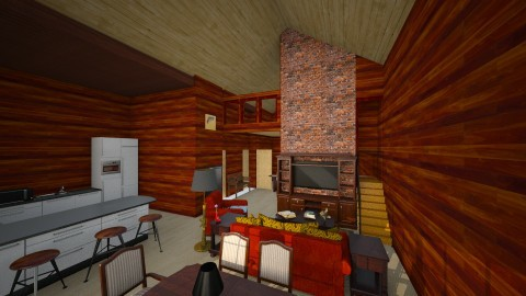 Barn Home - Country - Living room - by Fuzzy Squirrel
