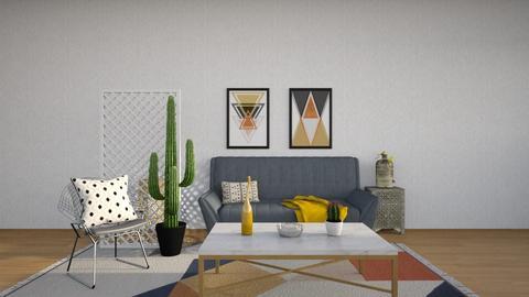 Yellow Cactus - Living room - by Asha_Shade