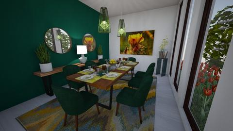 Green Dining - Dining room - by Michelle Guevara