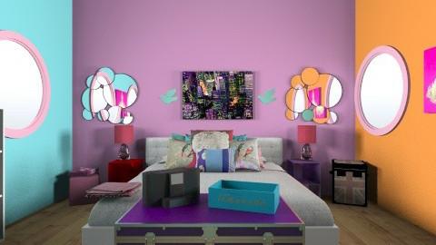 pillows - Retro - Bedroom - by katiebug1234