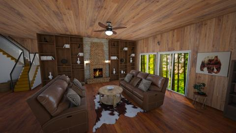 Alpine Lodge - Vintage - Living room - by Wolf_Lover