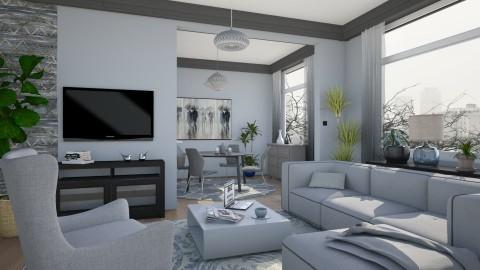 M_Grey everywhere - Living room - by milyca8