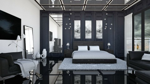 Dark and Stormy - Modern - Bedroom - by milyca8
