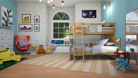 bunk bed room - by IsabelRule