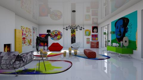 art collectors apartment - Modern - Living room - by kitty