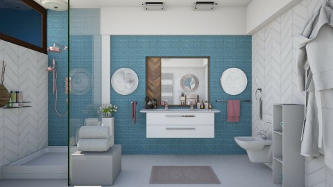M_Wood and tile - Bathroom - by milyca8