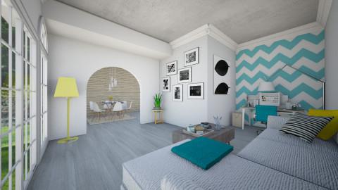 AQUA BLUE - Living room - by MadebyG
