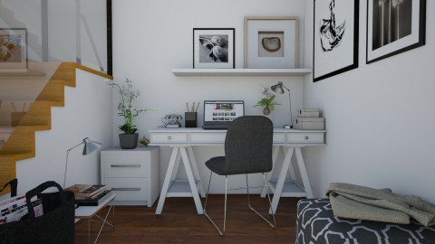 Her office corner - Office - by Tutsi