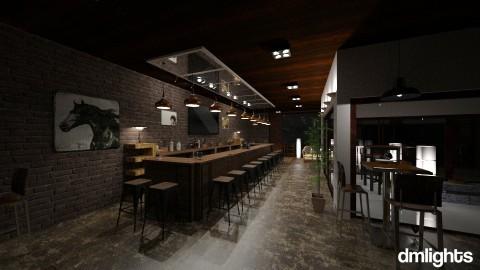bar - Rustic - Dining room - by DMLights-user-1383470