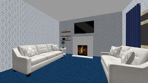 Blue and White LR WIP - Living room - by Lori Hallman Douglas_763