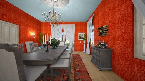Red Room - Classic - Dining room - by almecor2311