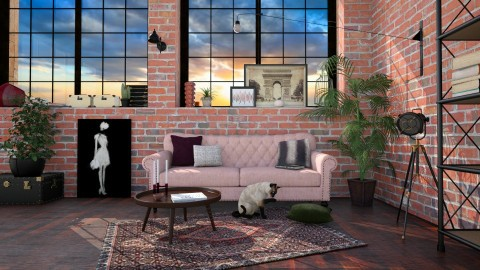 Industrial Barbie - Feminine - Living room - by evahassing