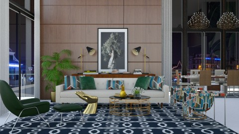FQ LR - Eclectic - Living room - by AlSudairy S