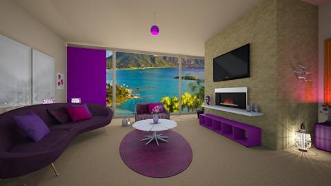purple - Feminine - Living room - by timeandplace