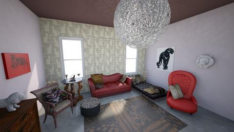 Cat Corner - Retro - Living room - by KajsaRain