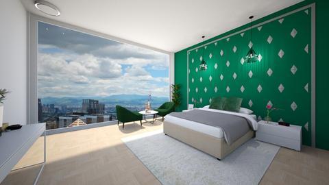 green accent room - Bedroom - by Tahsina Islam