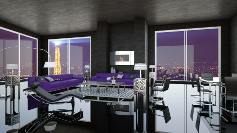 Paris by night - Living room - by Artichoses