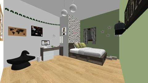 bed - Modern - Bedroom - by marta_23