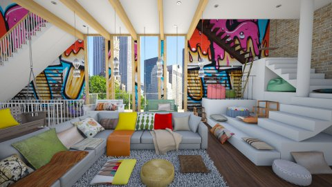 Lets Have Some Fun - Eclectic - Living room - by Laurika