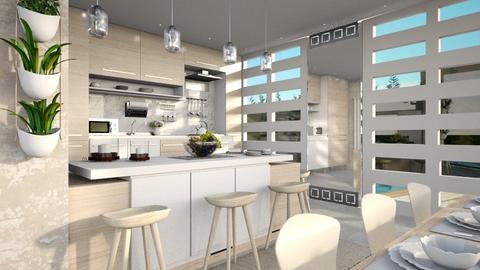 Kitchen with Bar - Kitchen - by sara andrade