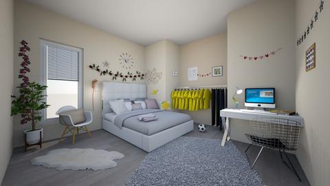 Modern teen room - Modern - Bedroom - by tervezoke