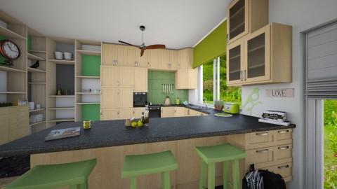 kitchen c - Classic - Kitchen - by donella