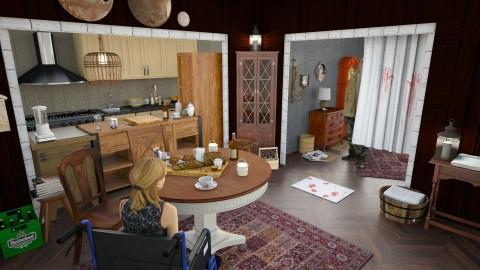 Resident evil 7 - Dining room - by Inokentijroom