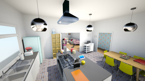 kitchen and living room - Kitchen - by cathycatarina