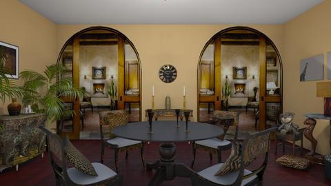 leopard dining room - by brdybnch0401