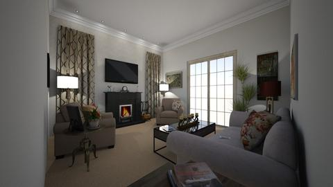 first room - Living room - by GraceKathryn