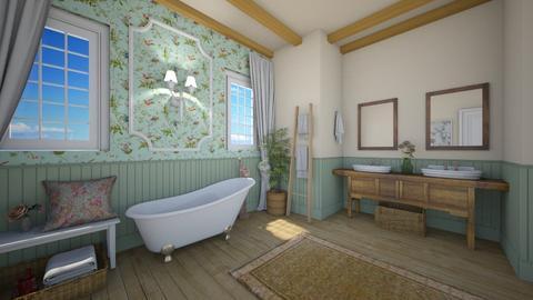shabby bathroom - Bathroom - by rasty