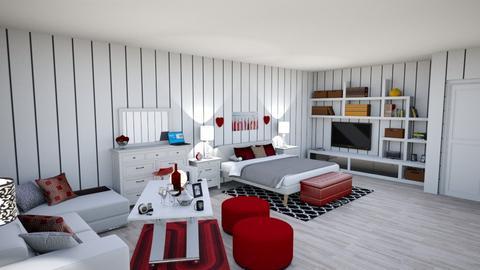 red - Modern - Bedroom - by kellynazha