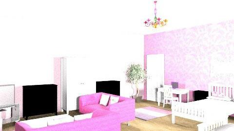 girls dorm - Classic - Bedroom - by Caitlin Johnston